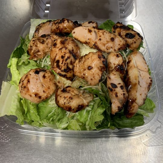 Squinnys - Caesar Salad with Bourbon Marinated Turkey Tips